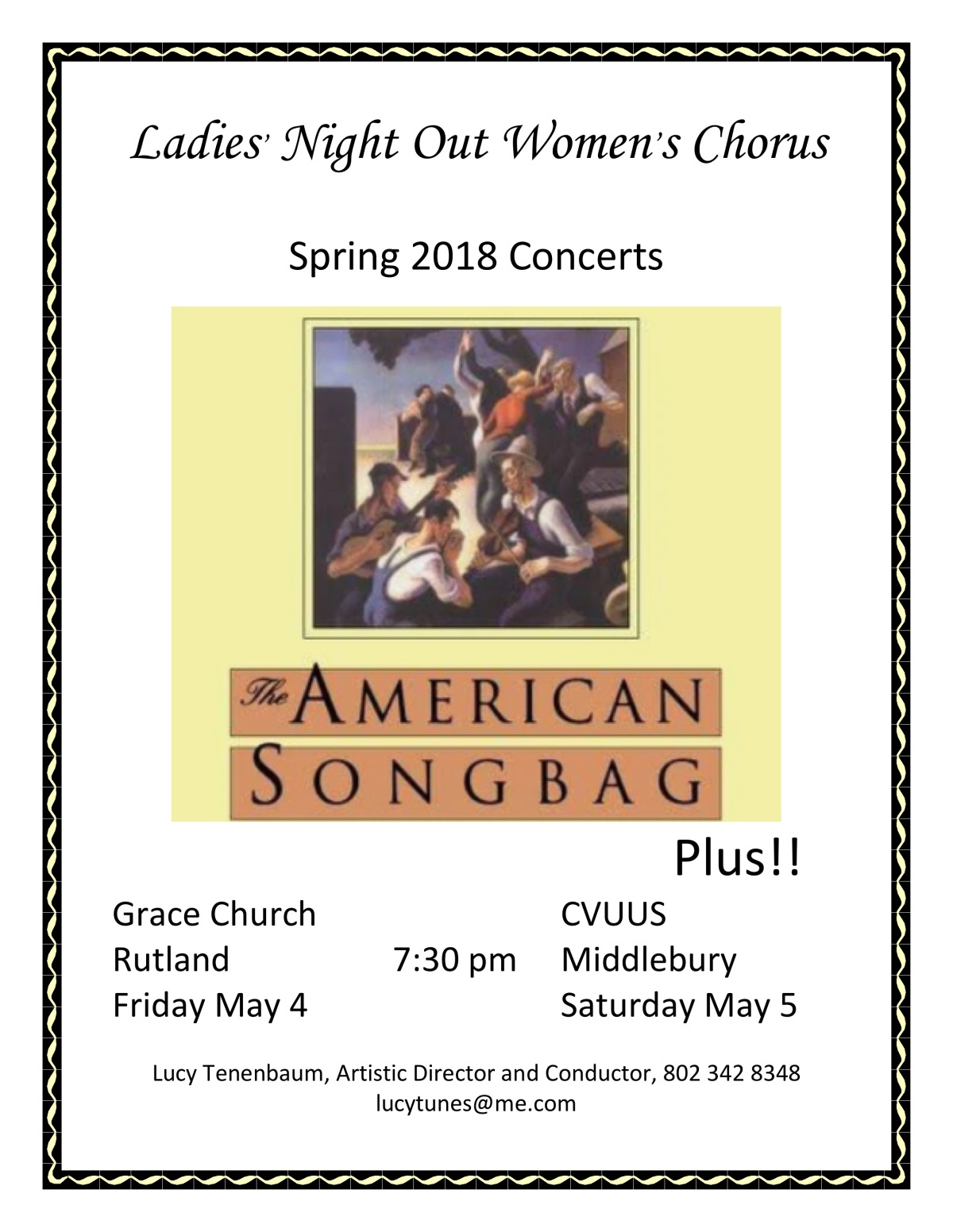 Ladies' Night Out Women's Chorus – May 4th