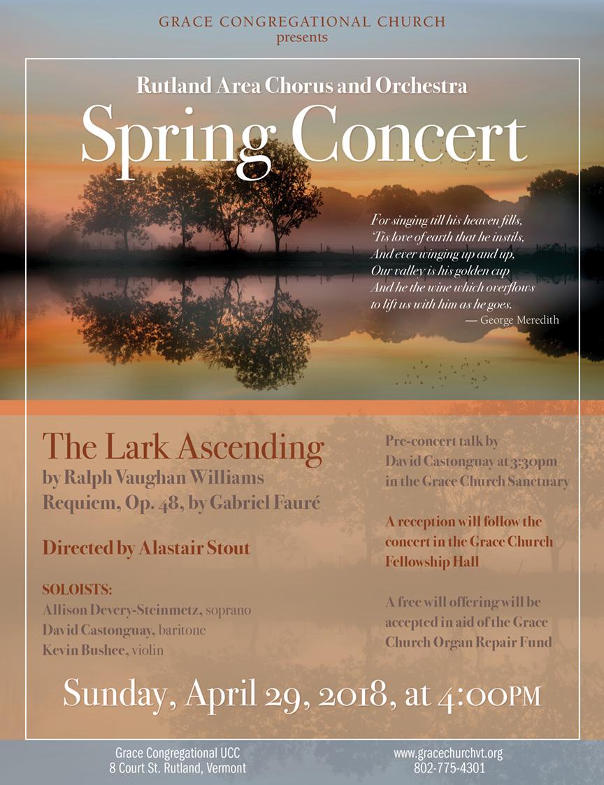 Rutland Area Chorus & Orchestra ~ SpringConcert