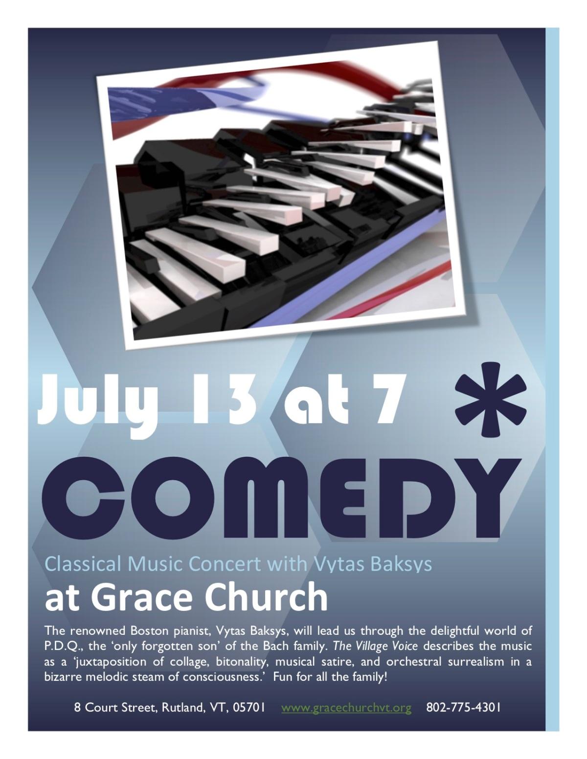 Comedy Piano Recital - July13
