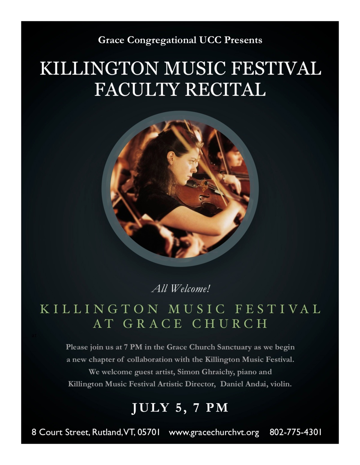 Killington Music Festival Faculty Recital – July 5