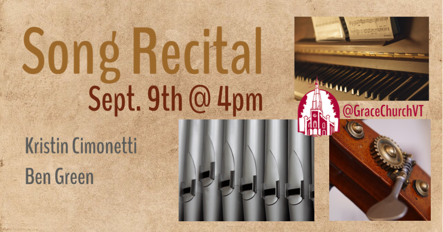 Sept. 9 – Song Recital