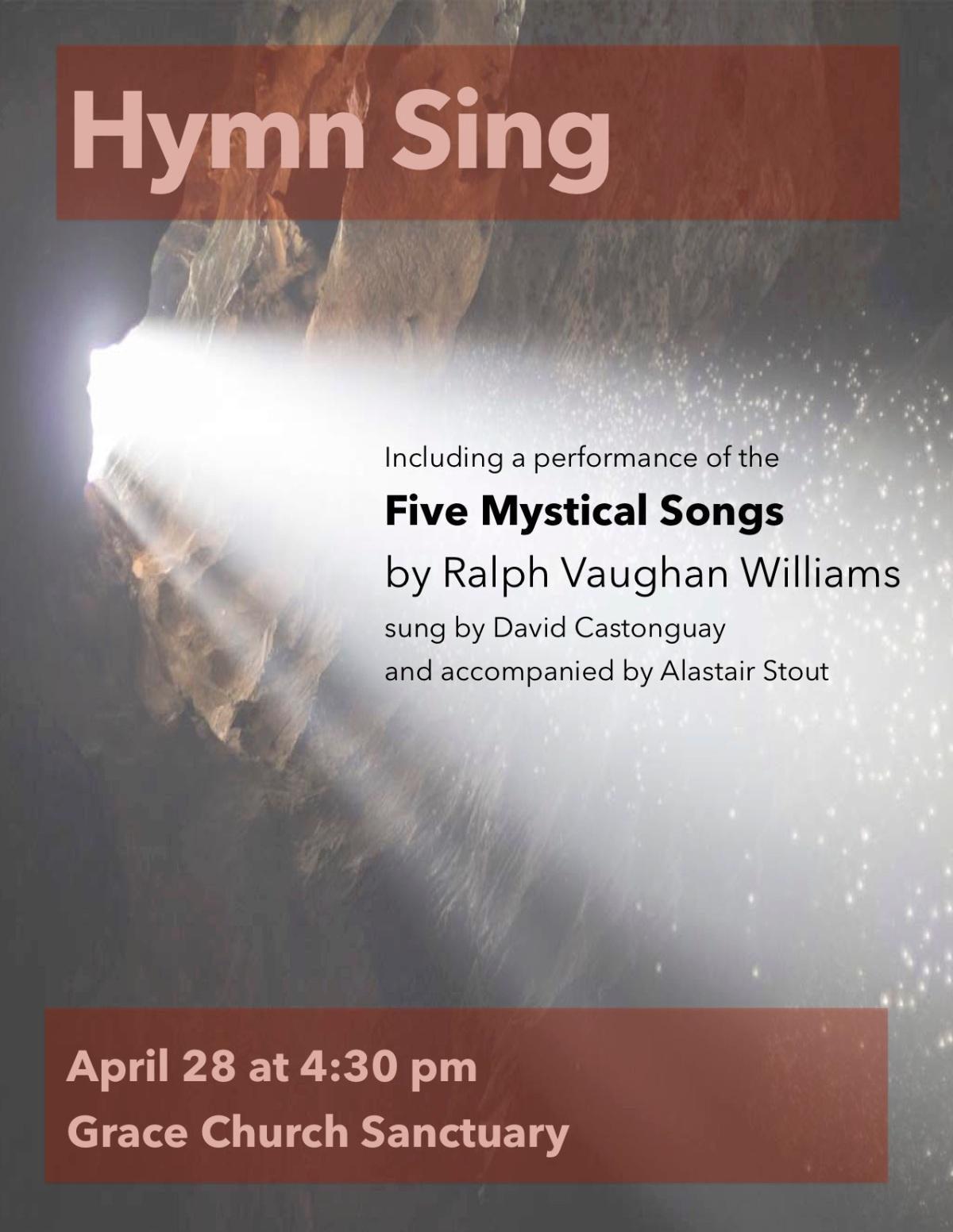 Apr. 28 ~ Spring HymnSing