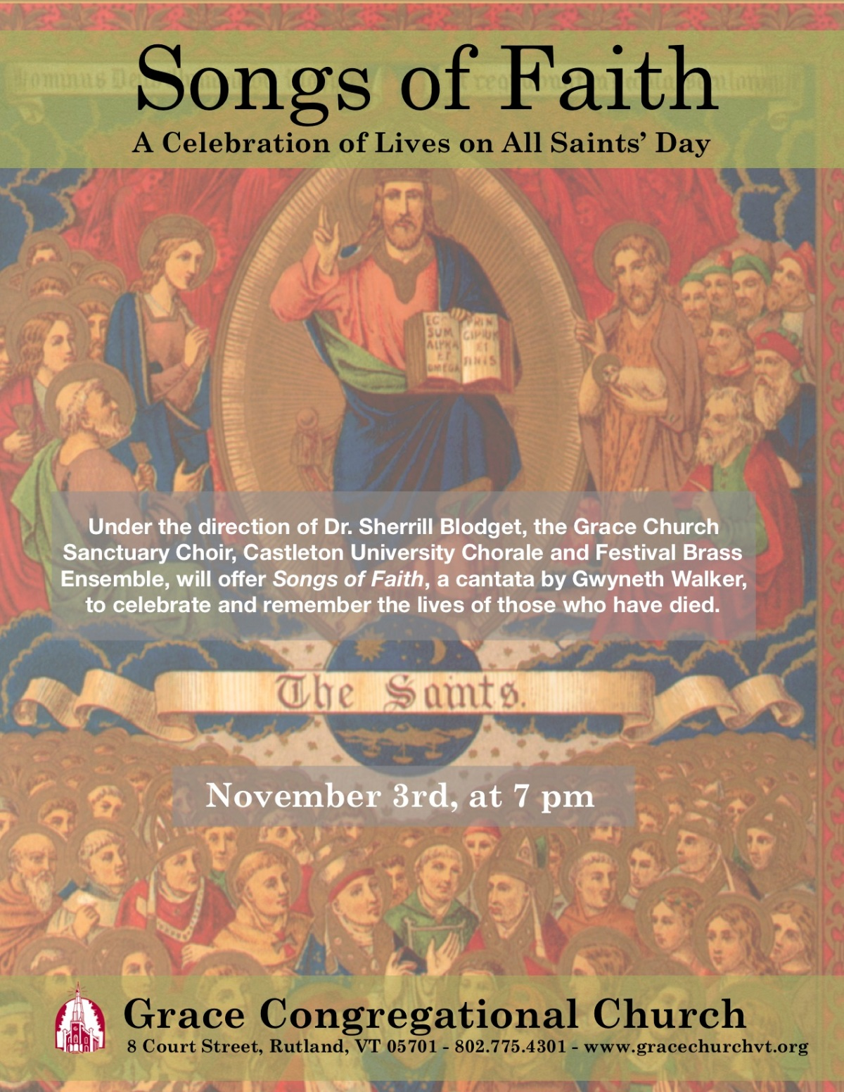 Nov. 3 ~ Songs of Faith for All Saints