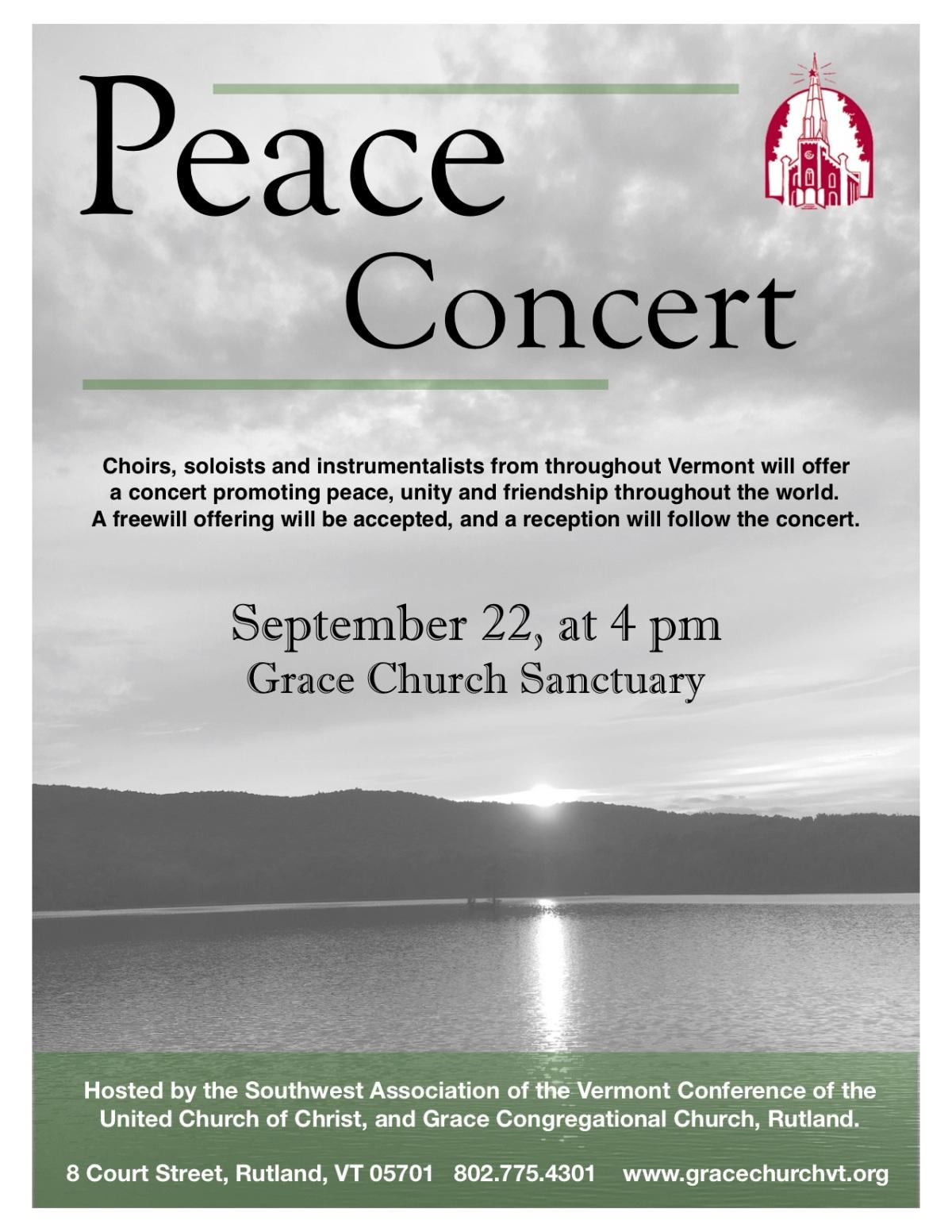Sept. 22 ~ PeaceConcert
