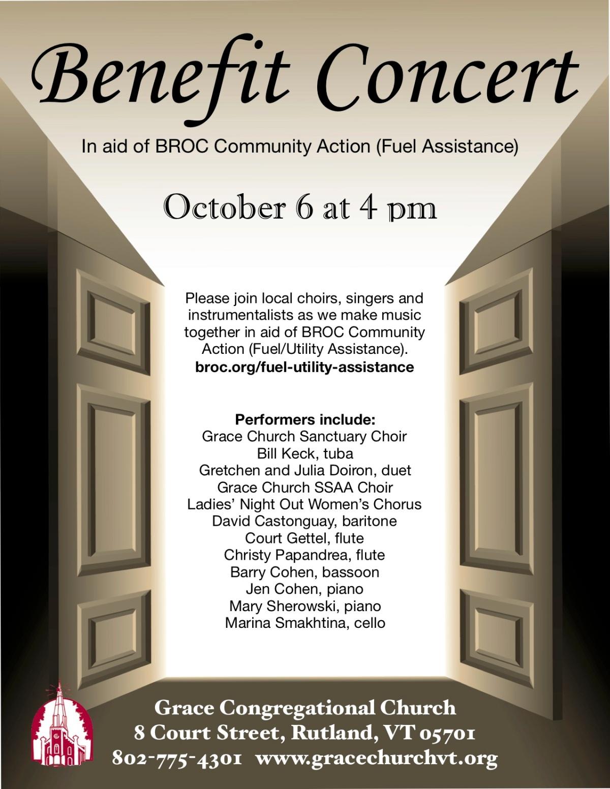 Oct. 6 ~ BenefitConcert