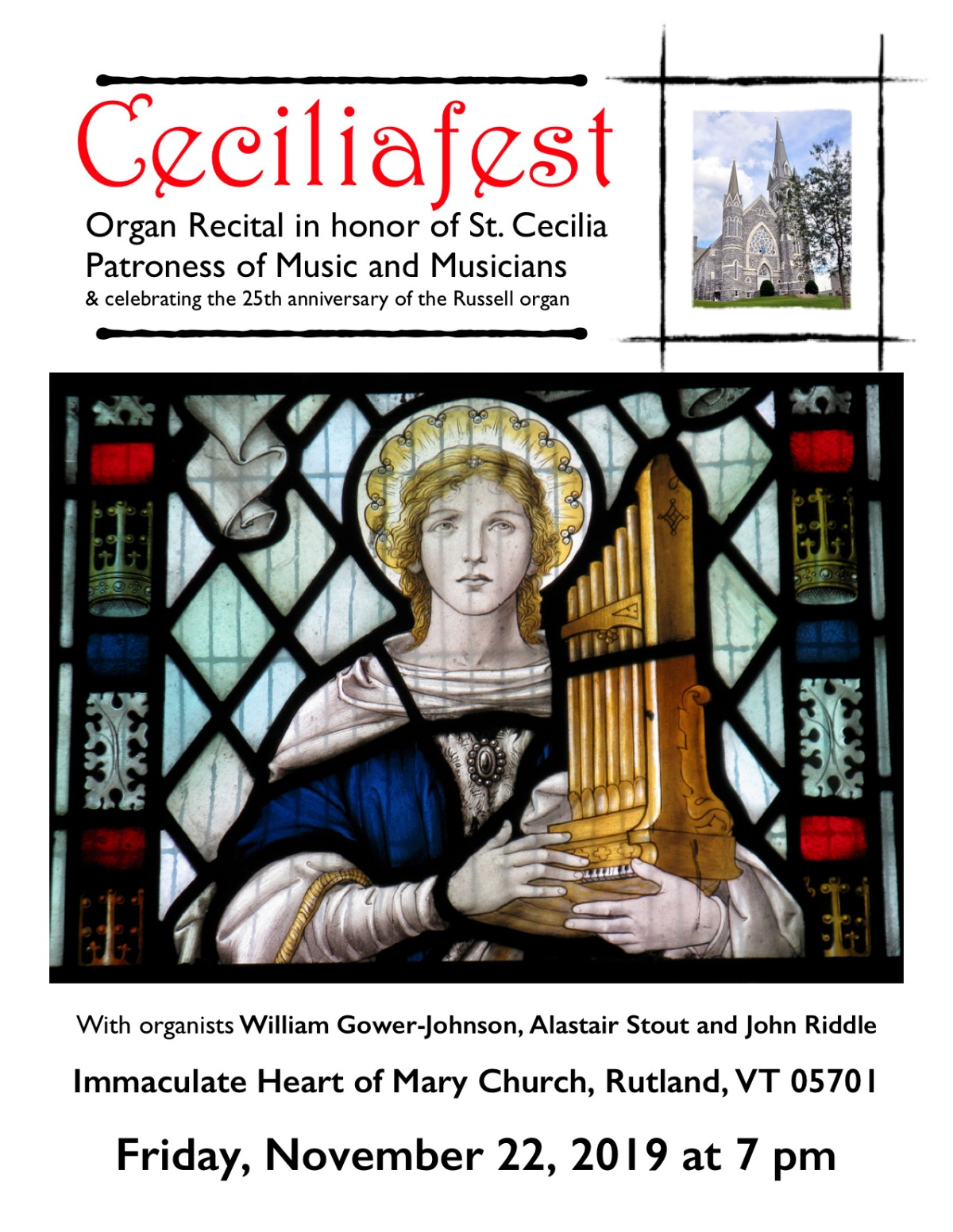 Nov. 22 ~ Ceciliafest Organ Recital